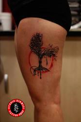 Tree tattoo aac dovme watercolor abstract ar by mertkanongun