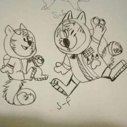 Furry Astronauts  by smol-whusky