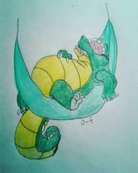 Snoozing Gator  by smol-whusky