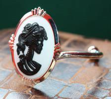 Skull cameo bracelet cuff by Pinkabsinthe