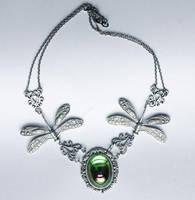 Fairy Dragonfly necklcae by Pinkabsinthe