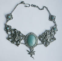 Blue Fairy Necklace by Pinkabsinthe