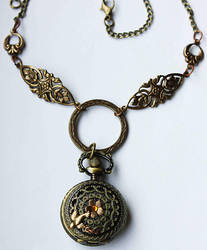 Romantic pocket watch necklace by Pinkabsinthe