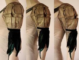 Antique bronze armor I by Pinkabsinthe
