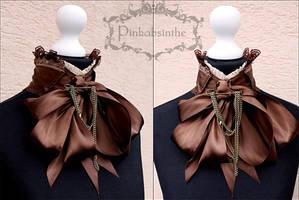 Victorian steampunk collar by Pinkabsinthe