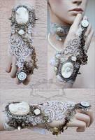 Wedding wrist ornament by Pinkabsinthe