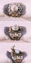 Boho rose watch cuff by Pinkabsinthe