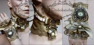 Antique gold set by Pinkabsinthe