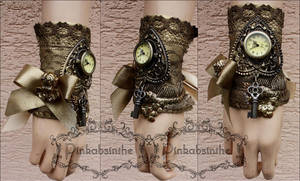 Cherub watch cuff by Pinkabsinthe