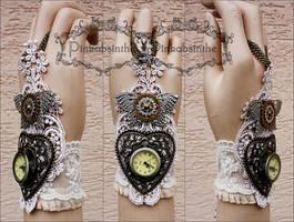Mechanical butterfly watch cuff by Pinkabsinthe