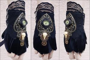 Gothic cuff by Pinkabsinthe
