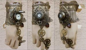 Butterfly watch cuff by Pinkabsinthe