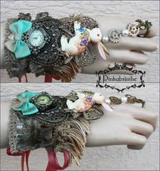 Bunny boho watch cuff by Pinkabsinthe