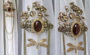 Elfish tiara barrette by Pinkabsinthe