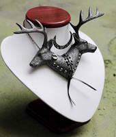 Deer necklace by Pinkabsinthe