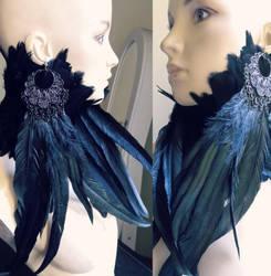 Bohemian long earrings by Pinkabsinthe