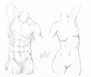 Random anatomy sketches 9 by RV1994