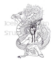 Kana's Snow Dance Lineart by The-IceKat