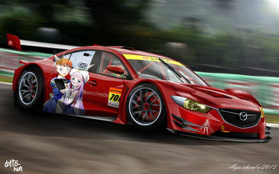 Mai Multiverse Official Super GT GT300 Race Car by NotoAyako