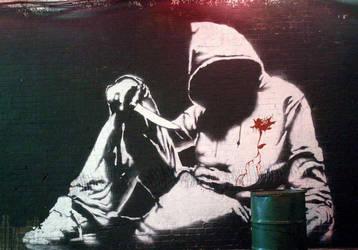 A Banksy by M-yash-j