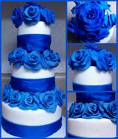 Roses of Blue by Er-ca