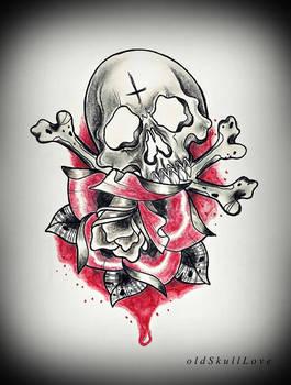 Skull And Rose Tattoo Design By Mweiss Art On Deviantart