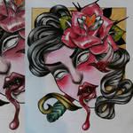 dead head VI . tattoo design by MWeiss-Art