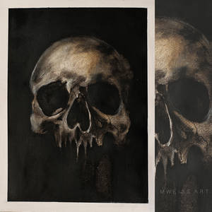 skull .. from the seriess of anatomical paintings by MWeiss-Art