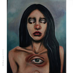 third eye . oil on canvas . 40x50 by MWeiss-Art