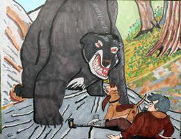 Cooper vs Bear by JavierOrlando