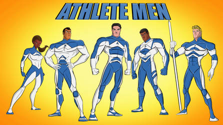The Athlete Men by Jeffrey Carr color by K.Terry by Edgar1968