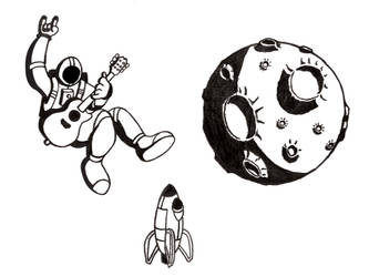 Cory Williams Spaceman poster sketches by jstropes