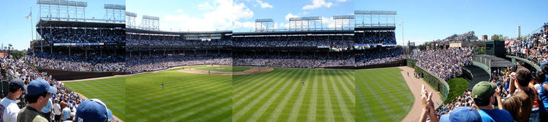 Wrigley Field Panoramic Composite by jstropes