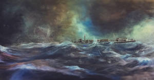 Caught in the Storm... 24x48in. Oil on canvas by seangregory