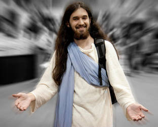 Jesus at SDCC 2009 by kumatsuotaku