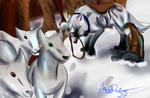 Sheep herding by Grace-Winters