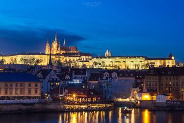 Prague Castle After Dark by MarinCristina