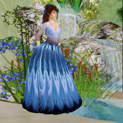Blue Lady by Brook by BevAnnieEnchanted