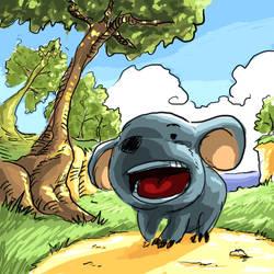 Stitch-impersonating Koala by dchan316