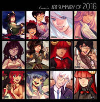 2016 Art Summary by 6ooey