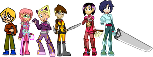 Code Lyoko Team by Shennanigma