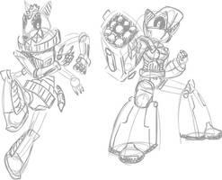 Robobandicoots by Shennanigma