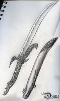 Winged Sword drawing by DokterDume