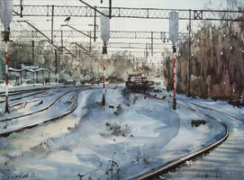 Winter on the Rail by PawelGladkow