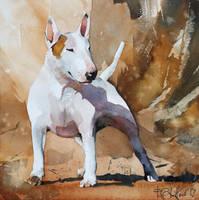 Bullterrier for Jonathan by PawelGladkow