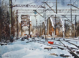 Winter on the rail II by PawelGladkow