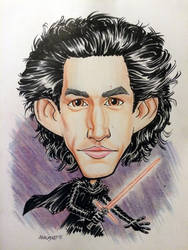 Kylo Ren caricature by Walmsley