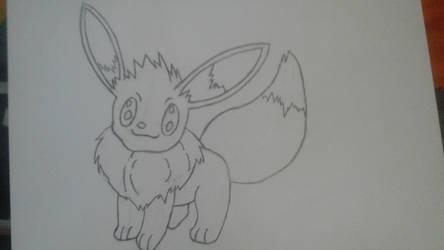 eevee sketch by 247234nate