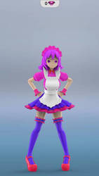 my new maid pink (front view) by irontntyt