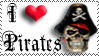 'I Heart Pirates' stamp by The-Fairywitch